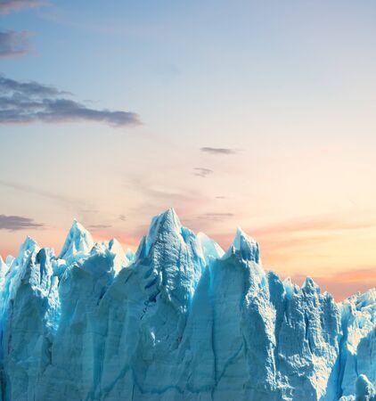 Glacier and sky, copy space.