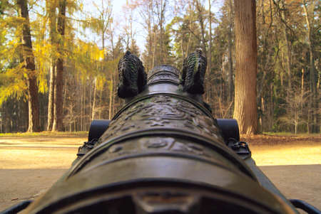 parapet wall: the barrel of old guns directed upwards
