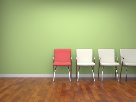 chairs in a room. photo