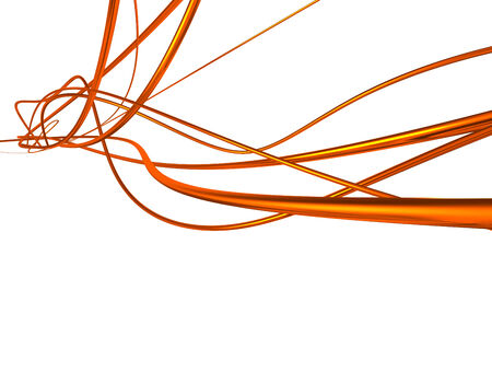 red metallic: red metallic wires isolated with white background.