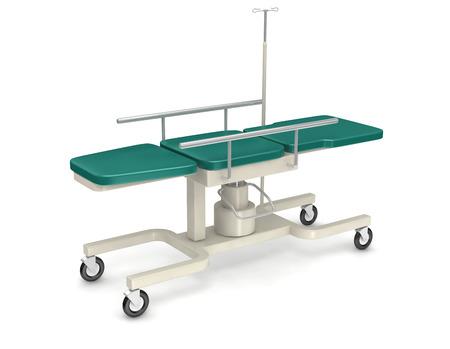 sickbed: medical device sickbed on white background. Stock Photo