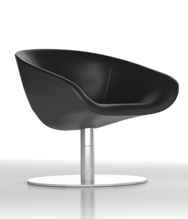 leather office chair on white background. digitally generated image. photo