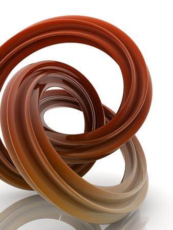 reflective curve shape on white background.digitally generated image.