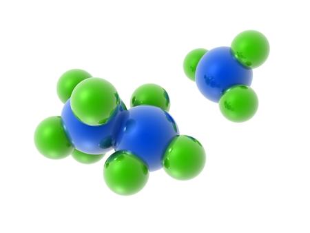 molecular structure: 3d Molecular Structure on white background.