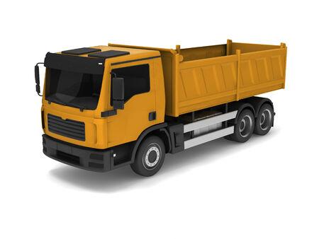 backgruond: yellow truck on white backgruond .