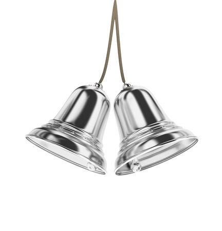silver bells: silver bells on white background.