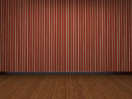 wood floor: empty house with red wall and wood floor.
