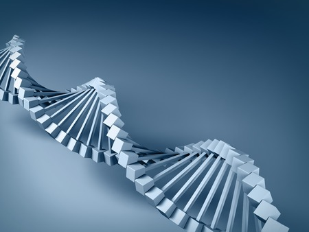 3d gray DNA model on gray background. photo