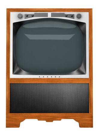 tv set: old tv set isolated on white background