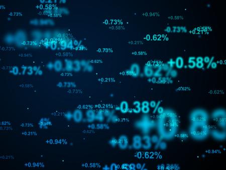 financiële achtergrond met vervagen nummers, Digitaal beeld. Stockfoto
