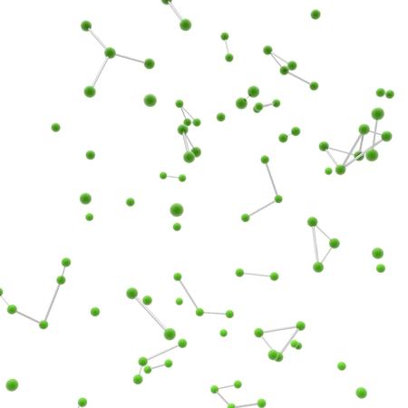 plexus: 3d nerve plexus model on white background