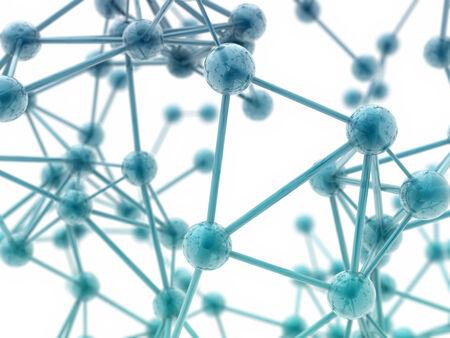 3d zenuwplexus model op witte achtergrond