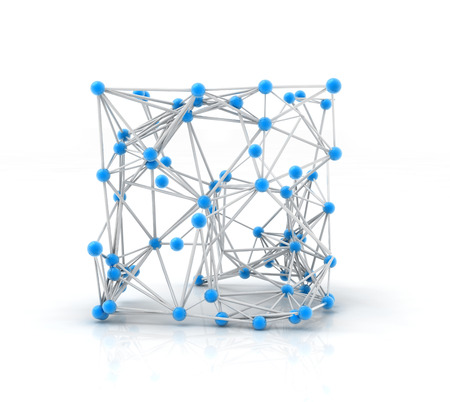 plexus: metallic nerve plexus model on white background Stock Photo