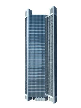 skyscraper: single skyscraper isolated on white background