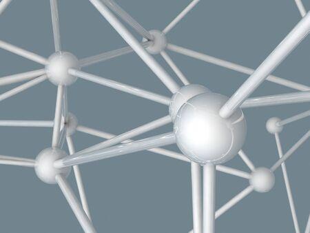 plexus: metallic nerve plexus model on gray background Stock Photo