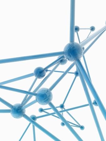 plexus: glass nerve plexus model on white background