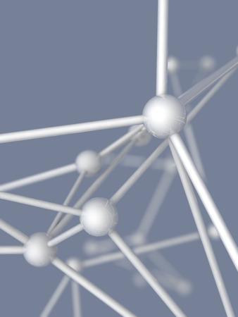 plexus: white metallic nerve plexus model on gray background