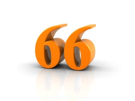 66: yellow metallic number 66 on white background.