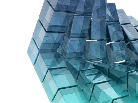 glass cubes on white background photo