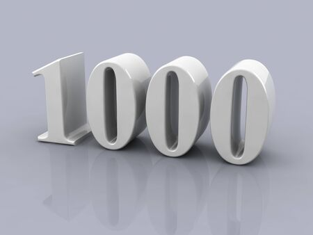 white metallic number 100 on white background, digitally generated image.
