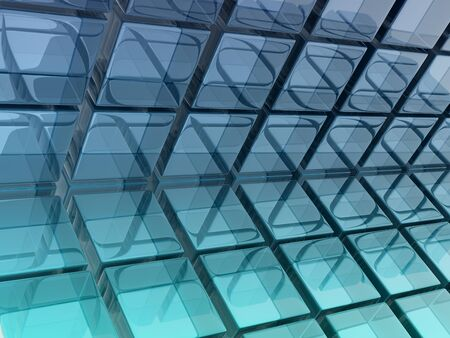 abstract background composed by glass cubes photo