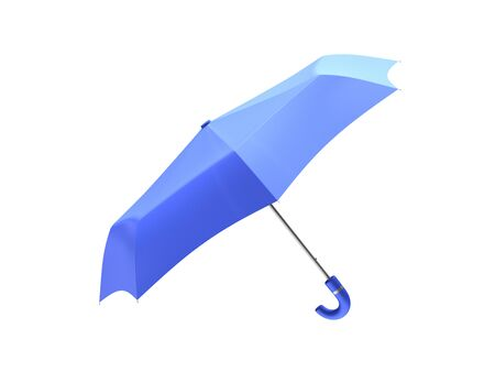 distraction: blue umbrella isolated on white background.