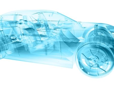 3D 소프트웨어에서 만든 추상 구조 스타일 차.