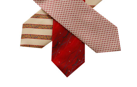 Selection of silk ties isolated on white Stock Photo - 542191