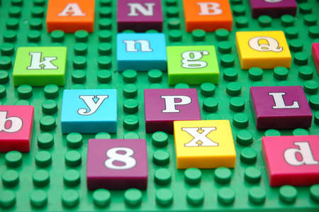 Game board with various letters Stock Photo - 552545