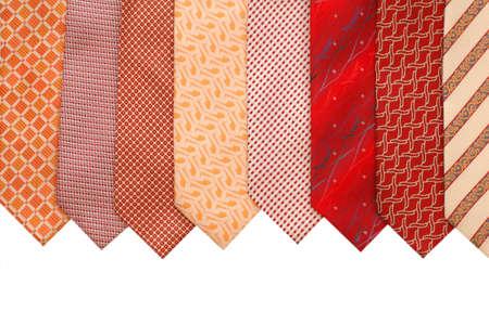 Silk ties isolated on white photo