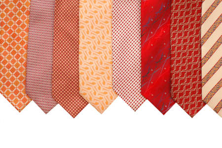 mens: Silk ties isolated on white