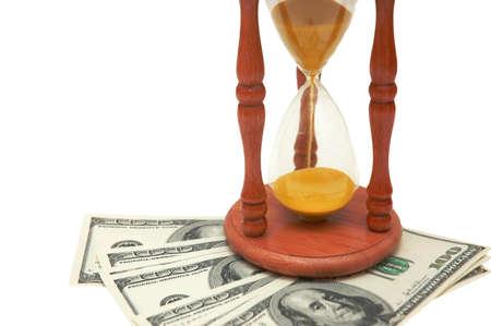 dollar bills: Il tempo � denaro - ora di vetro e dollaro fatture