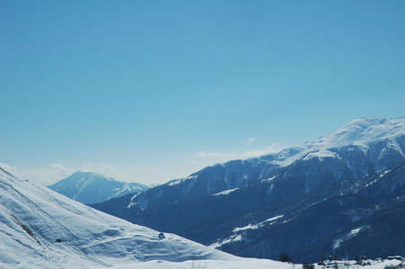 Winter mountains under the snow Stock Photo - 582828