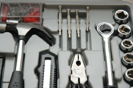 Toolkit of various tools in the box Stock Photo - 582752
