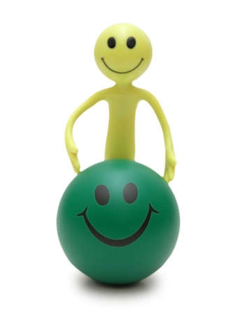 tabassum: Figure Smiley and ball isolated on white