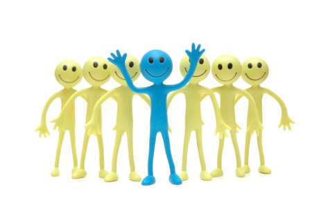 Stand out from the crowd - Figures of Smilies Stock Photo - 586895
