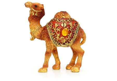 Figure of camel isolated on white Stock Photo - 590539