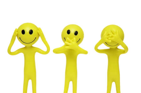 that: Smilies that speak, hear and see no evil
