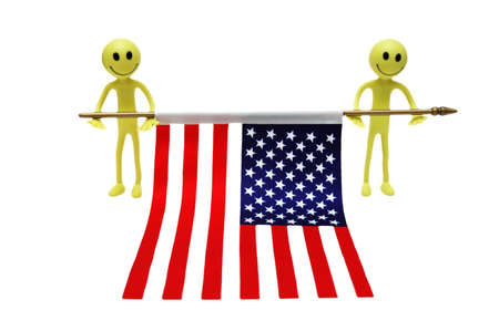 tabassum: Two smilies holding US flag