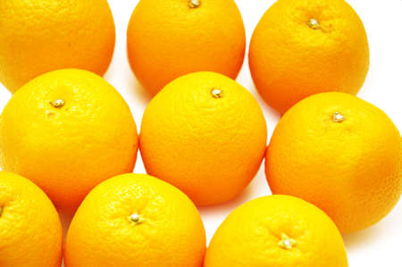 Selection of oranges isolated on white background Stock Photo - 632907