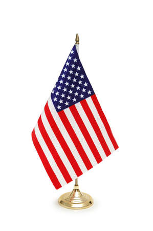 Table-top flag of USA isolated on white Stock Photo - 647139