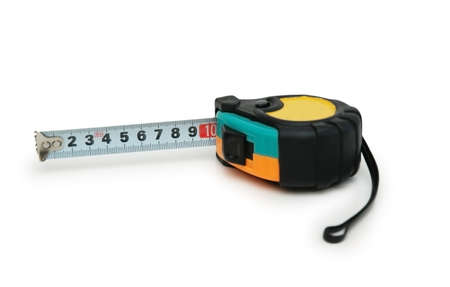 Measuring tape isolated on the white background photo