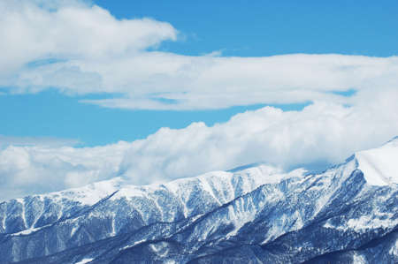 Mountains under snow in bright winter day Stock Photo - 693568