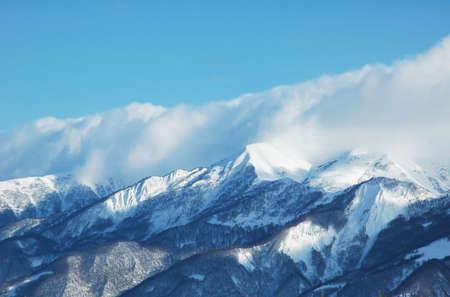 Mountains under snow in winter - Georgia, Gudauri Stock Photo - 693565