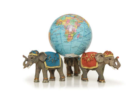 foundation problems: Three elephants holding the earth