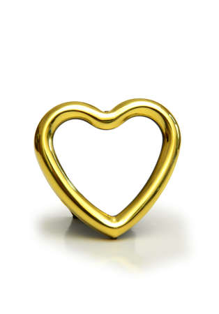 Heart shaped frame isolated on the white Stock Photo - 729781