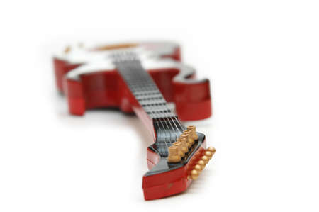 songwriter: Rock guitar isolated on the white background Stock Photo