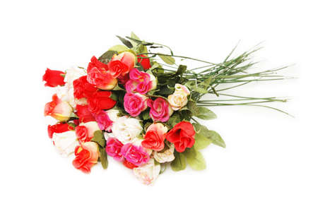 Bouquet of roses isolated on the white Stock Photo - 730312
