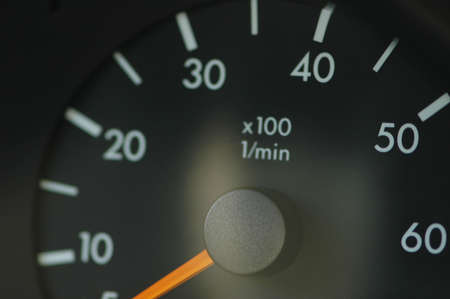 Close-up on the car speedmeter photo