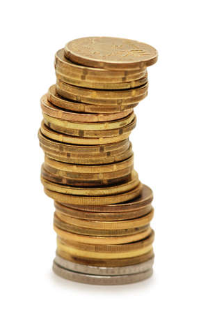 Stack of coins isolated on the white Stock Photo - 753662